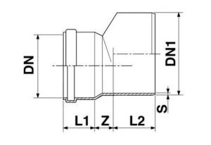 Редукция ПВХ схема Переход ПВХ Переход ПВХ redukciya sh 300x206